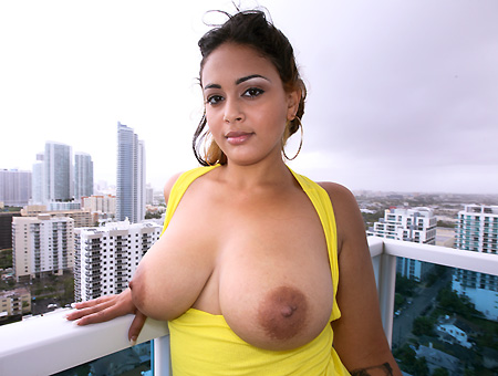 Latina girl has tits and ass